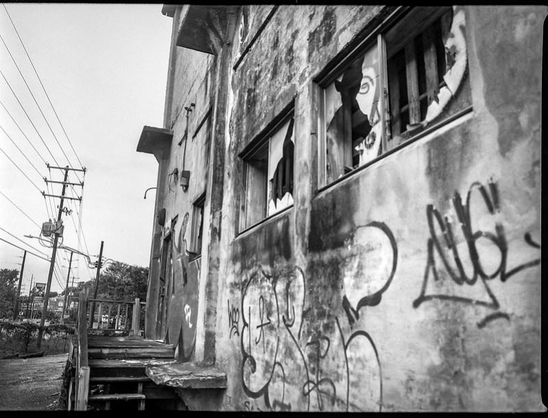 industrial architecture, abandoned, urban decay, Asheville Waste Paper Company, Asheville, NC, Mamiya 645 Pro, mamiya sekor 45mm f-2.8, Fomapan 200, HC-110 developer, 9.19.20