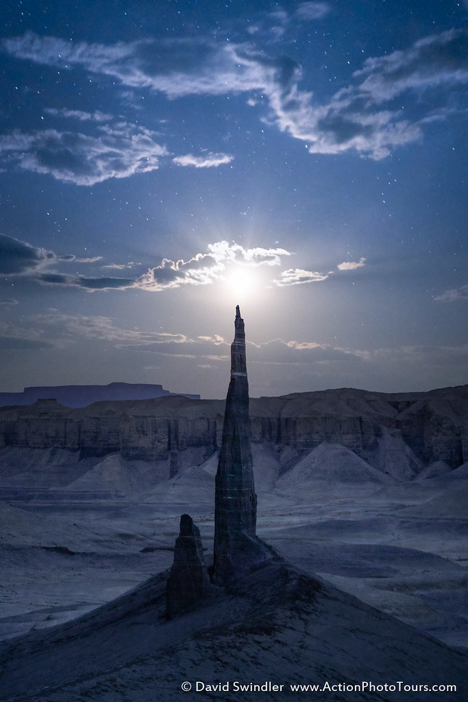 Spire By Moonlight