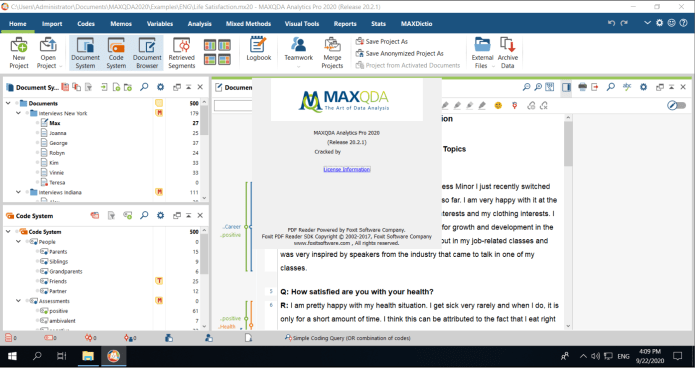 MAXQDA Analytics Pro 2020 R20.2.1 crack | CLICK TO DOWNLOAD ITEMS WHICH YOU  WANT