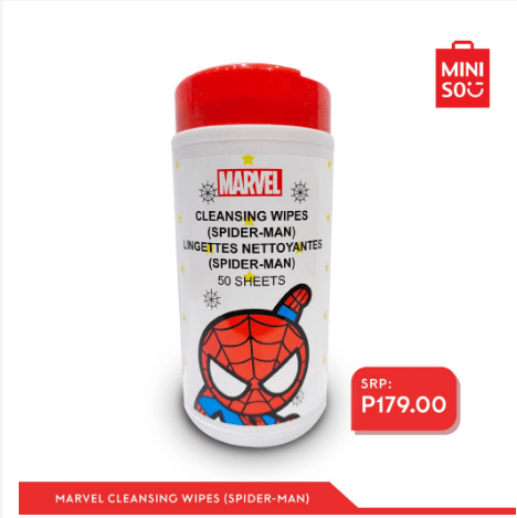 Miniso Marvel Cleansing Wipes (Spiderman)