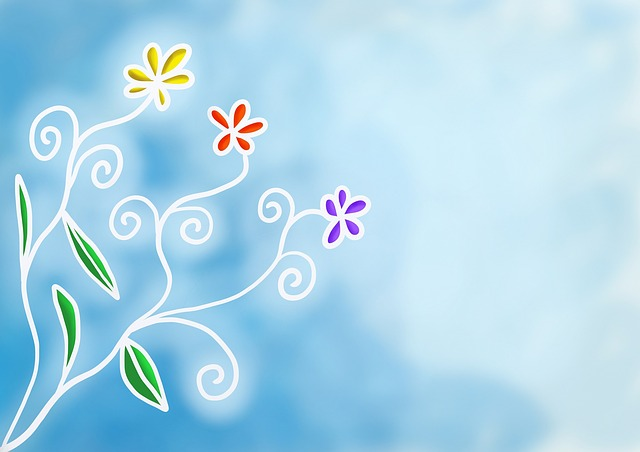 gambar abstrak flora background