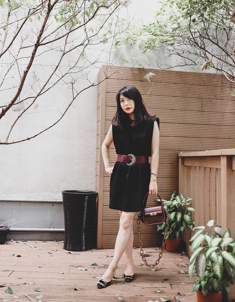 黑米墨魚燉飯好吃! GU_DE Love Bag + Frankie Shop Dress
