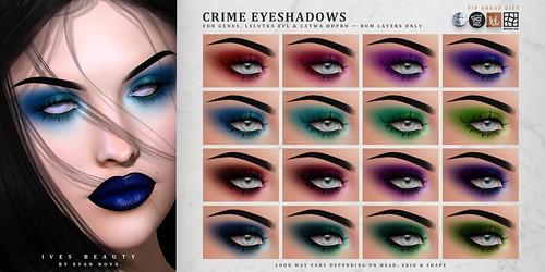 Crime Eyeshadows @ MAINSTORE [GROUP GIFT]