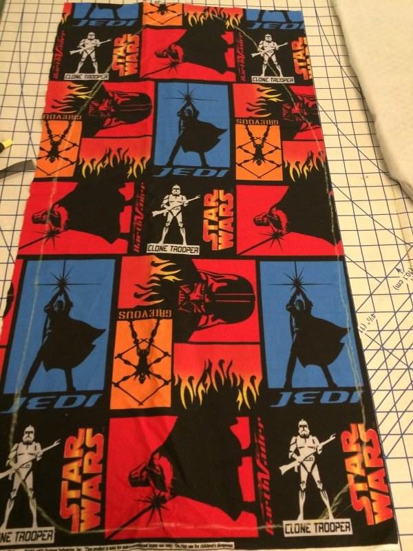 """Trace around the old cover. We gave an extra 5/8"""" so we could fold over the edge to make the casing. You could also do the casing as a wide zigzag stitch or with a serger."""