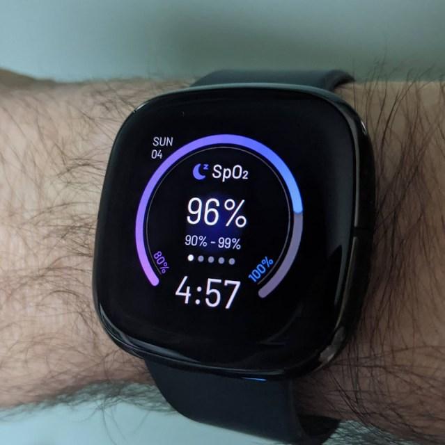 The SpO2 watchface of my new Fitbit Sense