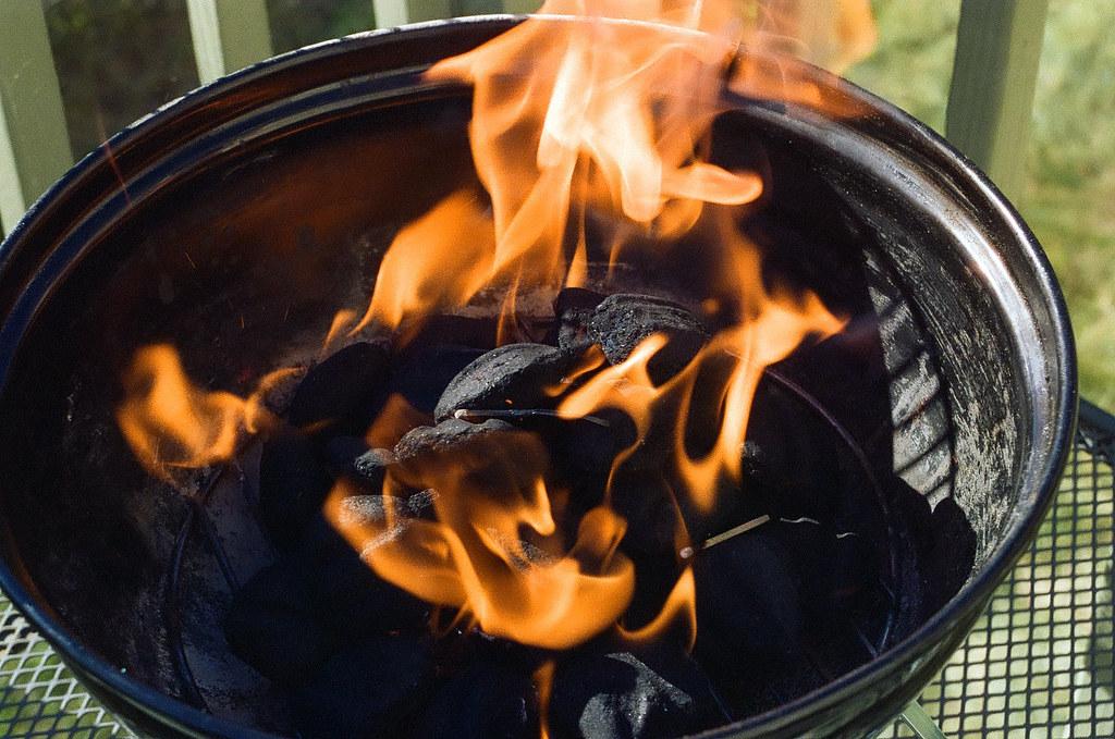Heating the coals