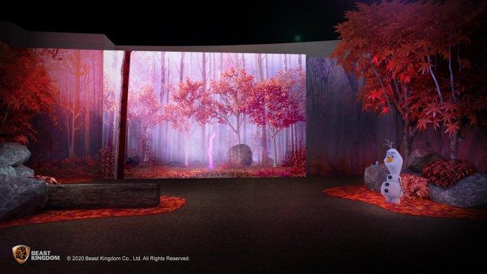 Frozen 經過楓葉森林將可與到處亂竄的火精靈大玩捉迷藏。