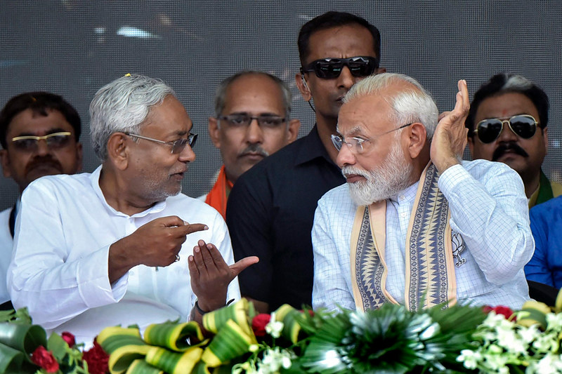 Nitish Kumar & Narendra Modi