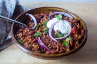 skillet turkey chili