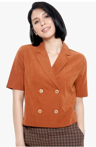 ForMe Suede Double Breasted Shirt (Brown)