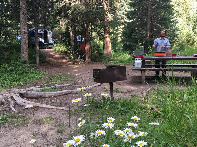 Camp in Gallatin Canyon