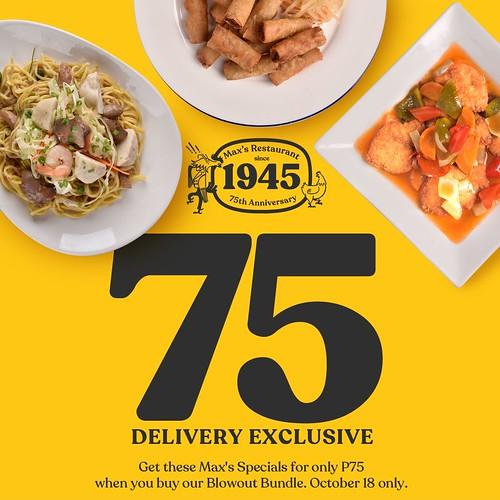 Max's 75th Anniversary Delivery