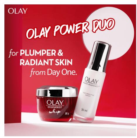 Olay Regenerist Whip Light Cream Moisturizer 50G + Light Perfecting Essence Serum 30ML