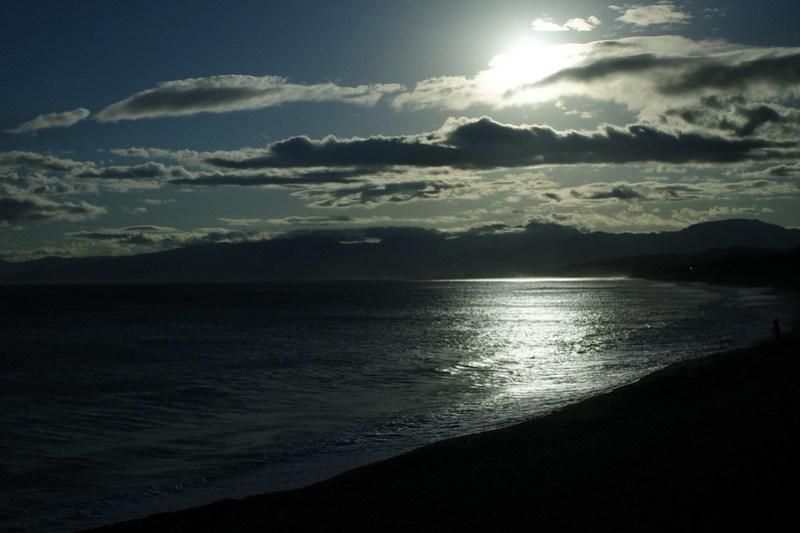 Oiso seashore before sunset