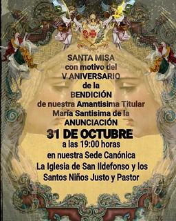 V Aniversario Bendición María Santísima de la Anunciación