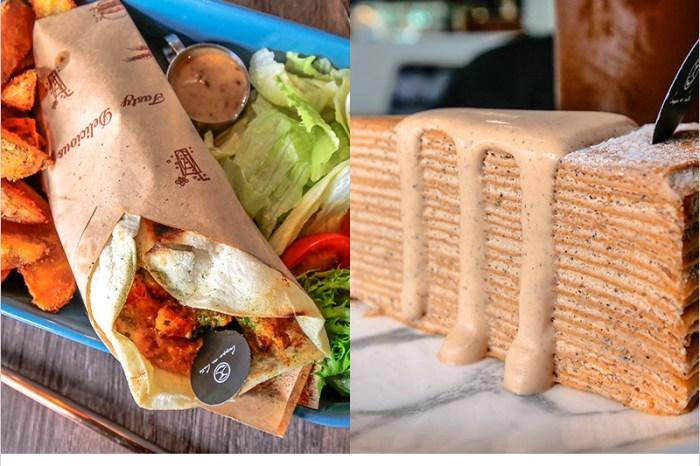 台中西區輕食   Cuppa VV Cafe  超推泰式墨西哥捲餅爽口涮嘴,泰奶千層蛋糕綿嫩濃香好吃,科博館商圈有質感的咖啡廳。