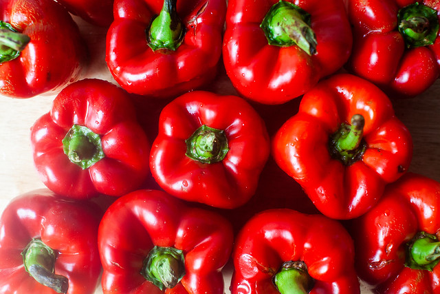 12 red peppers