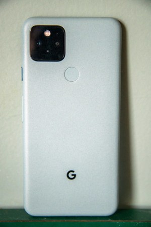 The back side of the Pixel 5.