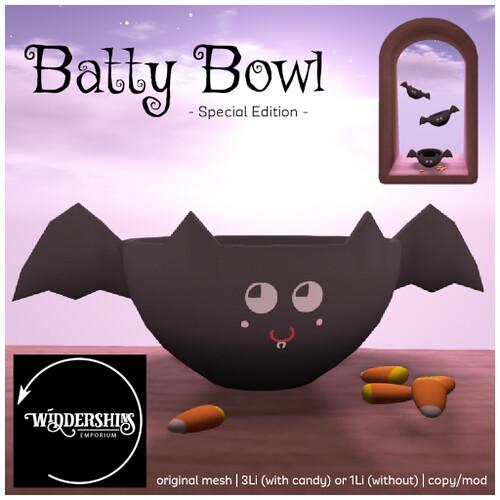 Widdershins - Batty Bowl [SE] Black - GIFT