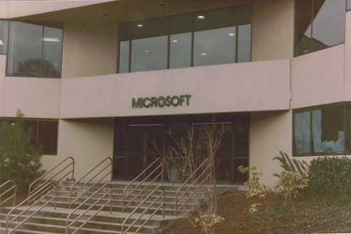 The Front Door of Microsoft in 1985