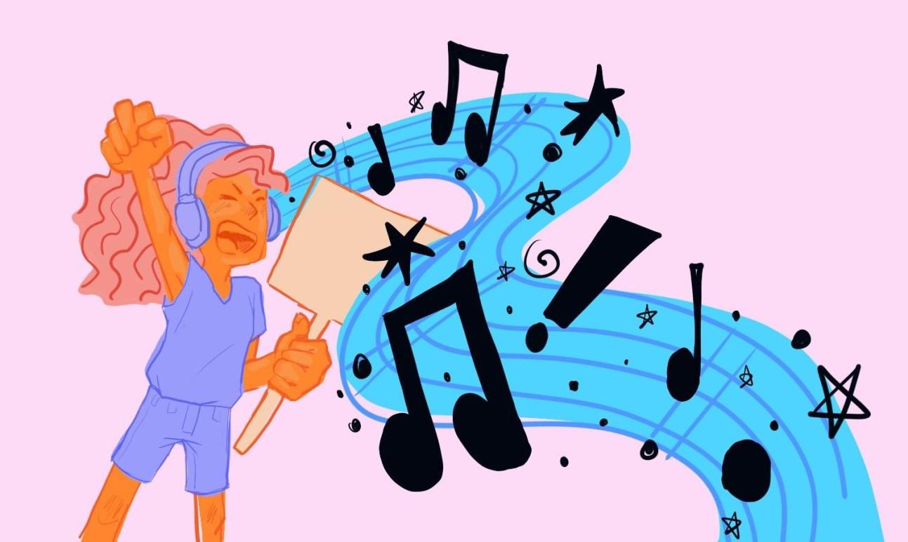music and activism illustration