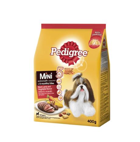 PEDIGREE® Dry Dog Food MINI Beef Lamb & Vegetable 400g