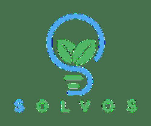 Solvos logo transparent-blue-green