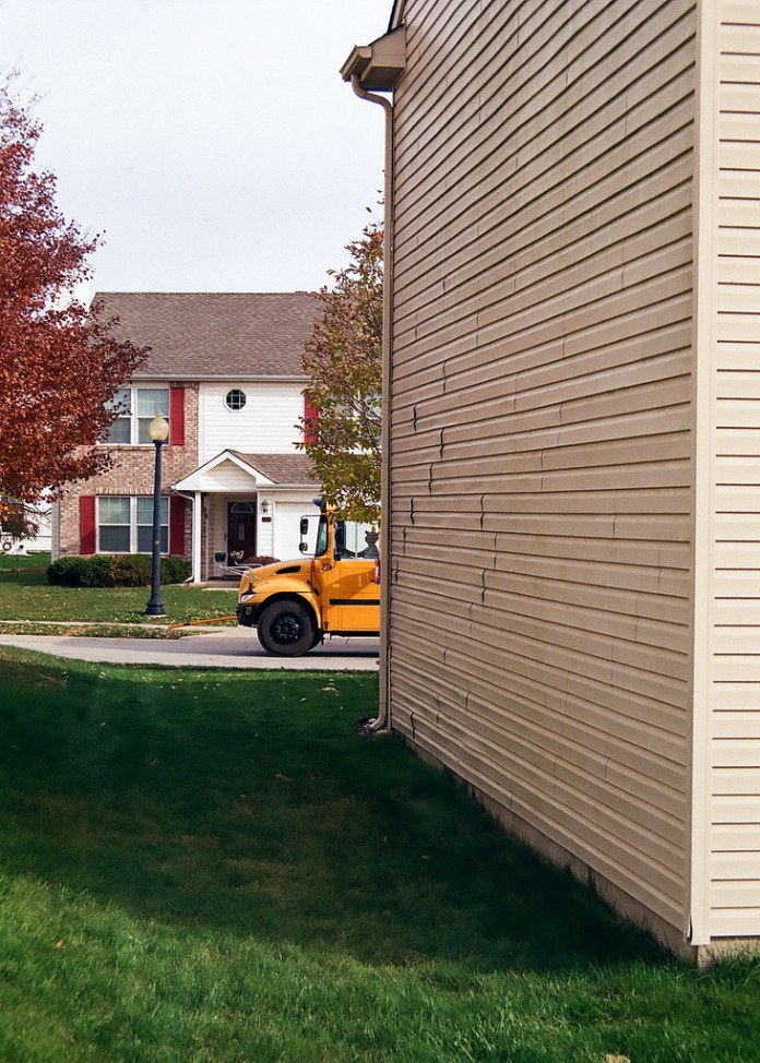 School bus waiting