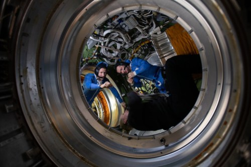 Expedition 64 cosmonauts prepare for a spacewalk
