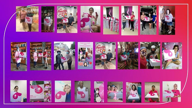 Breast Cancer Survivors from Kasuso Foundation and Avon-PGH Breast Care Center Support Group receive boxes with the Avon Empower Bra (1)