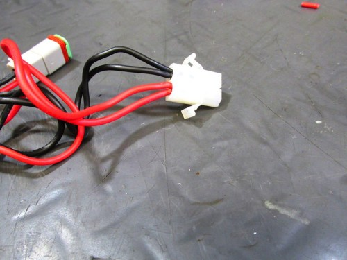 Harness Male Socket Connected To Both LED Light Harnesses