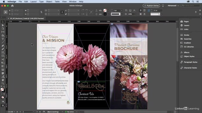Learning InDesign 2021 Essential Training for engineer