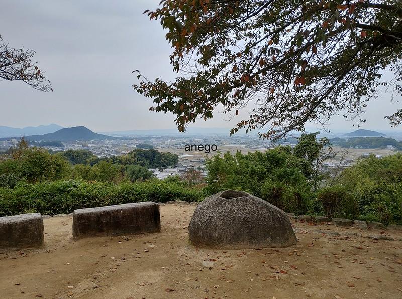 甘樫丘 畝傍山と耳成山