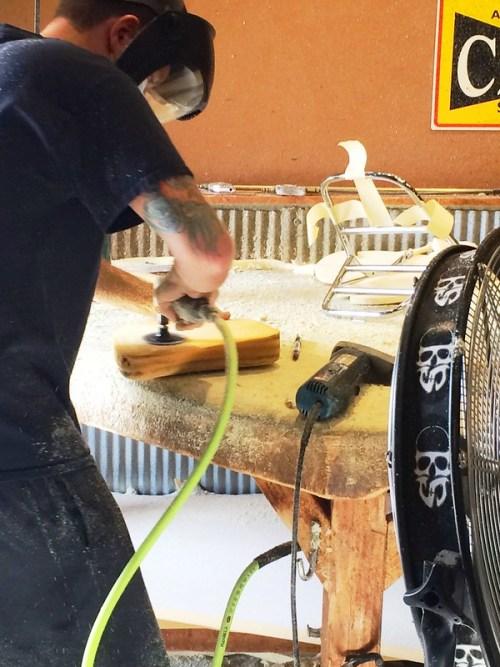 Paul Shaping The Seat Foam
