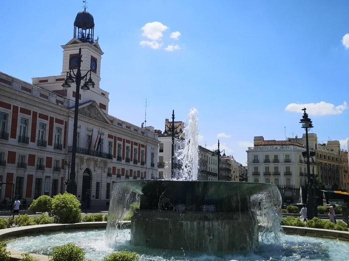 西班牙馬德里市中心的太陽門廣場