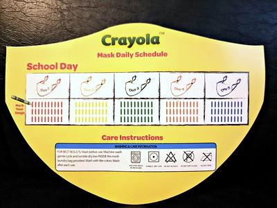 SchoolMaskPack's Crayola Kids Reusable Cloth Face Masks @schoolmaskpack @MySillyLittleGang