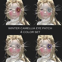 *NAMINOKE*Winter Camellia Eyepatch