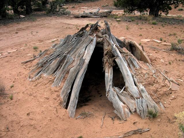 Navajo hogan ? male-type ? Head of Slickhorn #4, Cedar Mesa, UT by bryandkeith on flickr