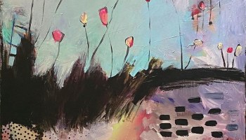Postcard: Poplars