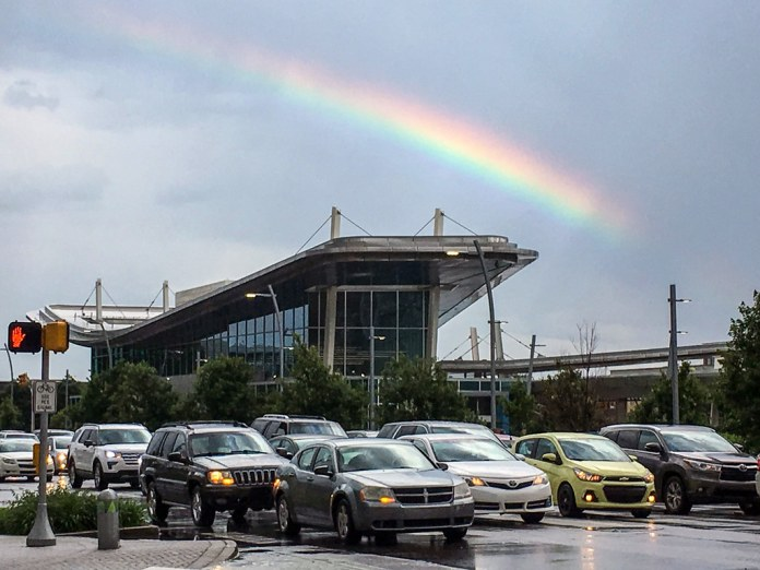 Rainbow in Downtown Indy