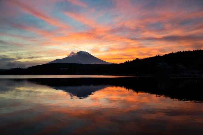 Today's Sunset at Lake Yamanaka