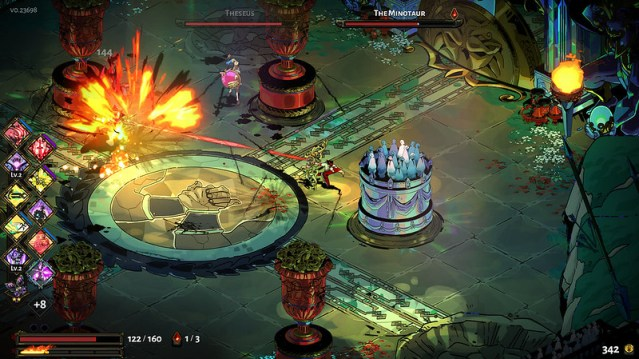 A screen shot of the Hades game.