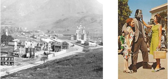 Panorámica de la Universal City, California, hacia 1920...