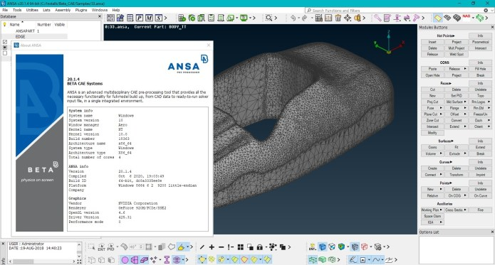Working with BETA-CAE Systems ansa v20.1.4 full