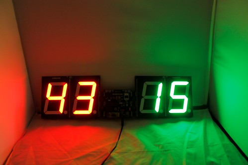 Bluetooth Controlled Digital Scoreboard based on Scoreduino-B (14)