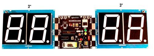 Bluetooth Controlled Digital Scoreboard based on Scoreduino-B (16)