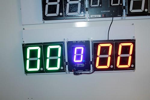 SCORE5 Arduino based Digital Scoreboard with Common anode Seven segments display (9)