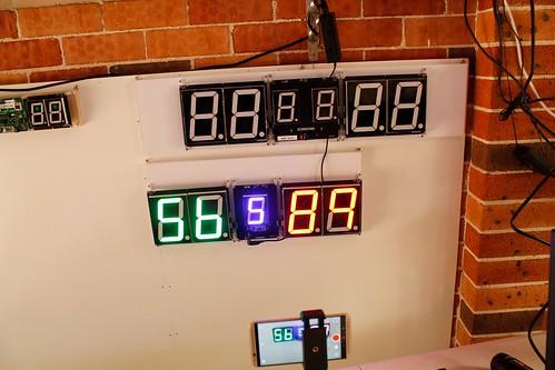 SCORE5 Arduino based Digital Scoreboard with Common anode Seven segments display (6)