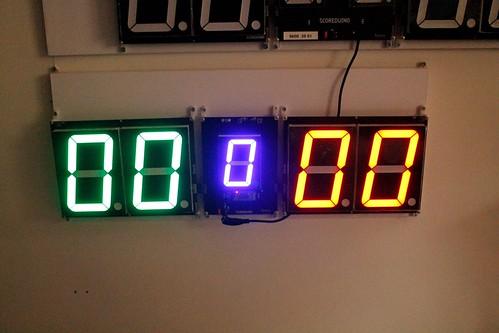 SCORE5 Arduino based Digital Scoreboard with Common anode Seven segments display (11)
