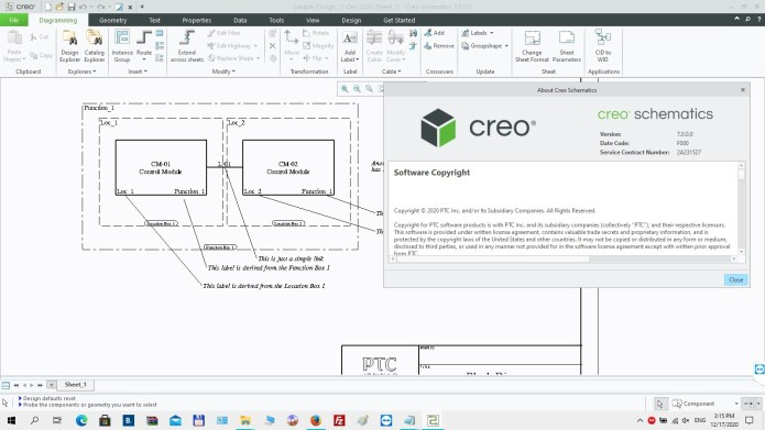Working with PTC Creo Schematics 7.0.0.0 full license